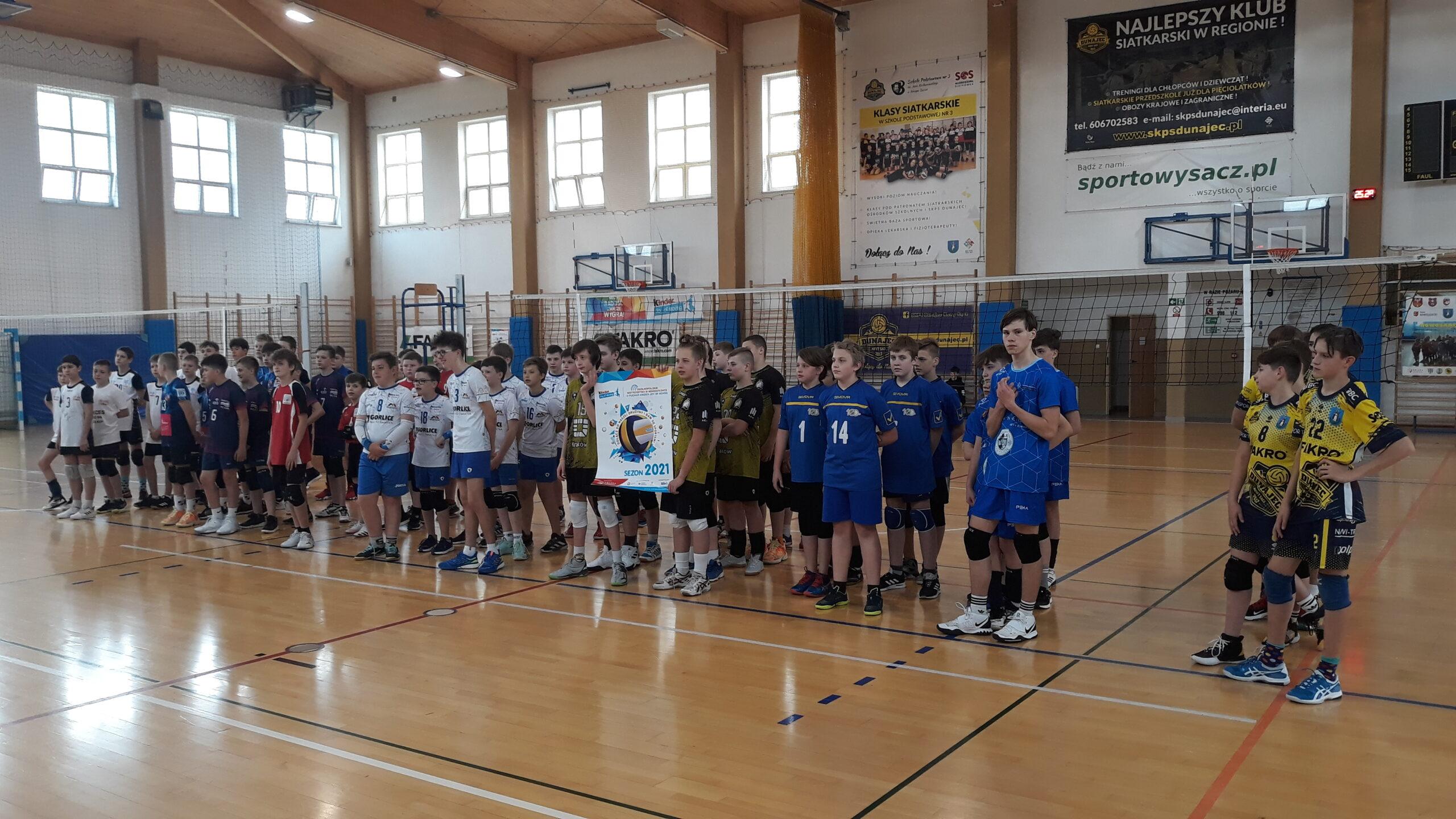 Finał wojewódzki Kinder+Sport 2021 w kategorii czwórek chłopców
